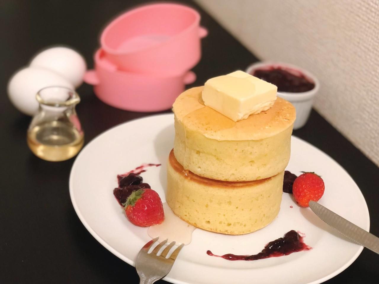 スフレ パン ケーキ ホット ケーキ ミックス 型 なし